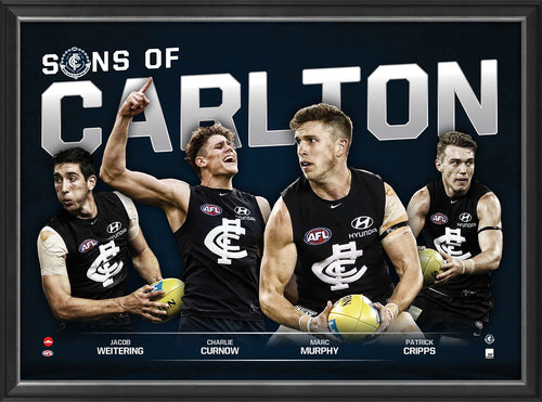 SONS OF CARLTON - PLAYER POSTER FRAMED