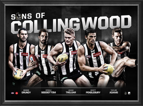 SONS OF COLLINGWOOD - PLAYER POSTER FRAMED