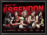 SONS OF ESSENDON - PLAYER POSTER FRAMED