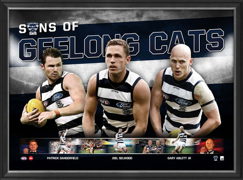 SONS OF GEELONG - PLAYER POSTER FRAMED