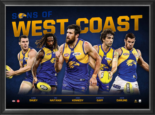 SONS OF WEST COAST - PLAYER POSTER FRAMED