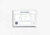 Indian Test Cricketer Card Signed - Sarandeep Singh