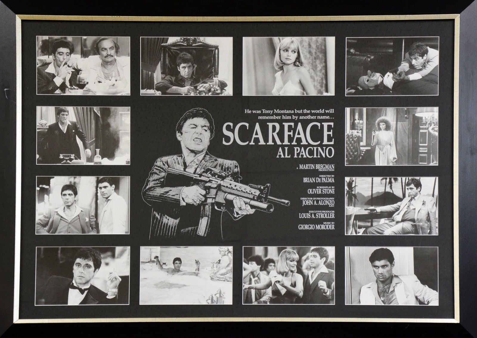 Scarface al pacino framed piece memorabiliawarehouse scarface al pacino framed piece jeuxipadfo Images