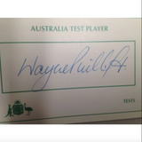 Australian Test Cricketer Card Signed - Wayne Phillips