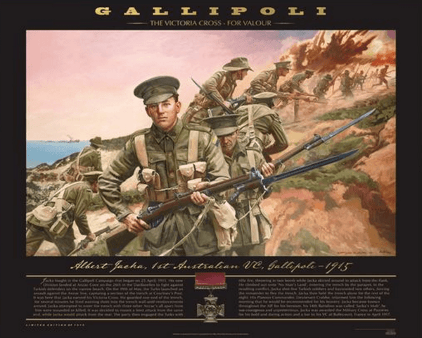 ANZAC-Gallipoli - The Victoria Cross Print/Albert Jacka -First VC Winner