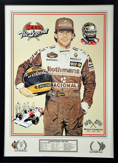 Ayrton Senna The Legend Signed Print