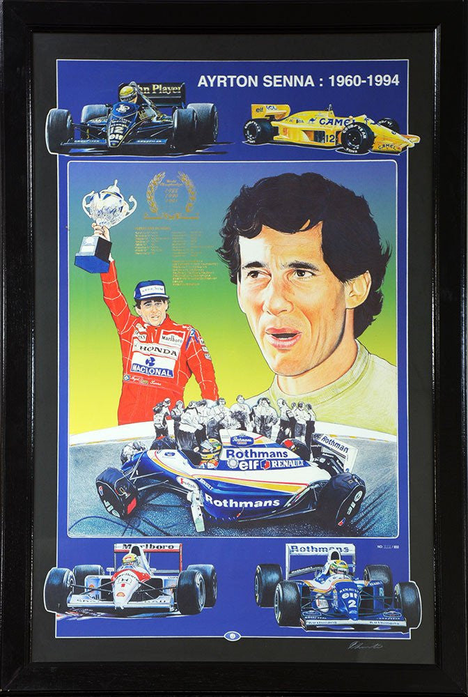 Ayrton Senna Signed Career Tribute