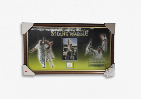 Shane Warne 'The King of Spin' Signed and Framed Poster