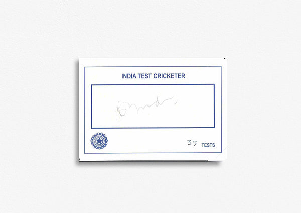 Indian Test Cricketer Card Signed - Shival Yadev