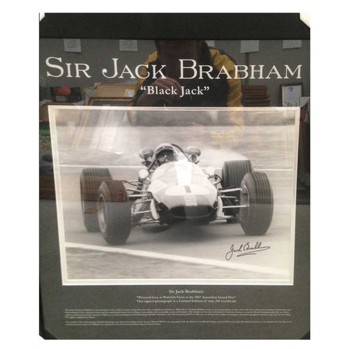 Sir Jack Brabham F1 World Champion -Signed/Framed