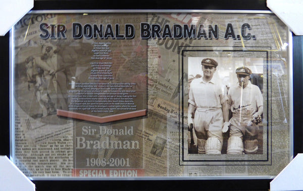 Donald Bradman - Australian Captain Signed Framed Print