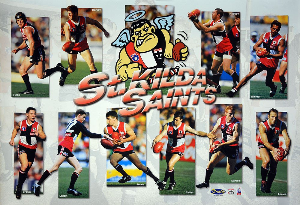 St Kilda 1998 Best Of Poster