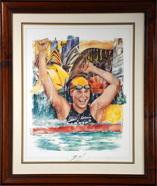 Susie O'Neill Go For Gold Signed Print