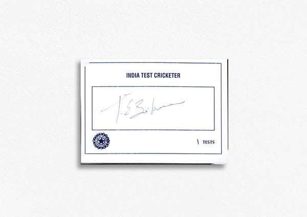 Indian Test Cricketer Card Signed - T.E Srinivasan