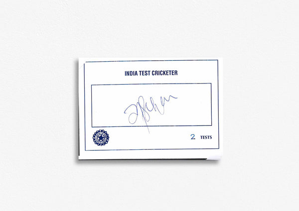 Indian Test Cricketer Card Signed - T. Sekhar