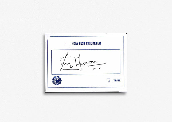Indian Test Cricketer Card Signed - T. Yohanan