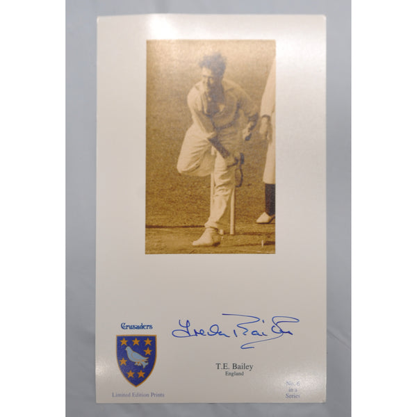 ENGLAND-TREVOR BAILEY CBE  English Test Cricketer signed photo