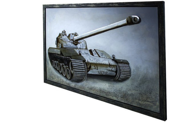 Tank 3D Framed Canvas