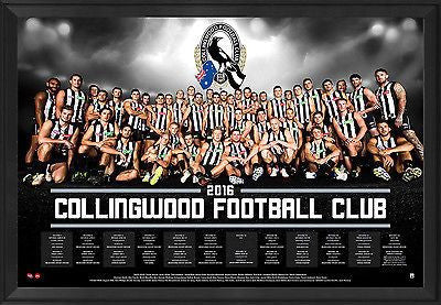 Collingwood 2016 Team Poster Framed