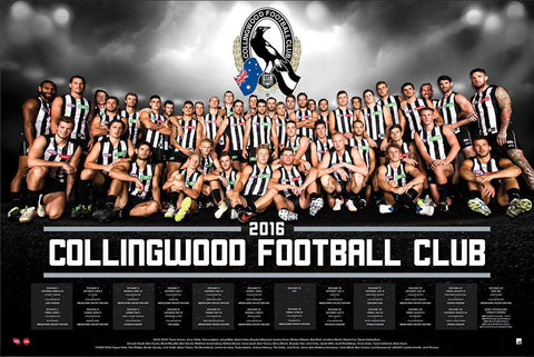 Collingwood 2016 Team Poster