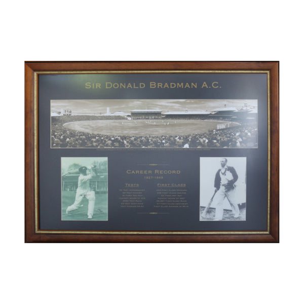 Bradman Playing at Sydney Cricket Ground- includes Signed Photo by Bradman