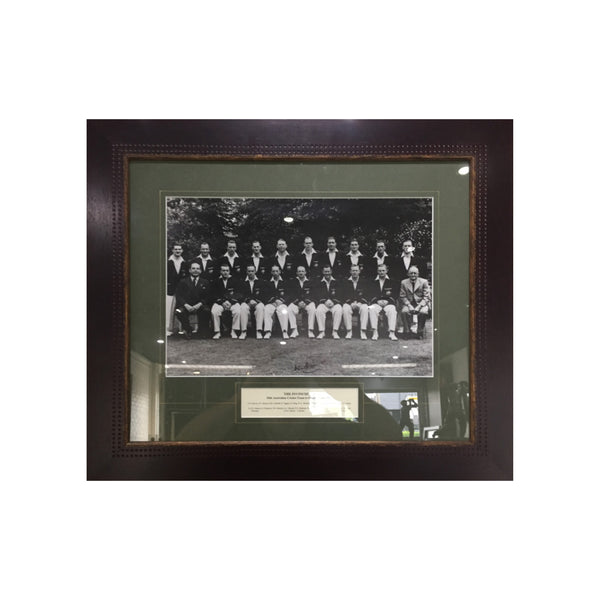 The Invincibles with Stats - Signed by Bradman
