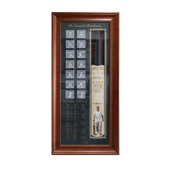BRADMAN-The Bradman World Records - Signed Bat
