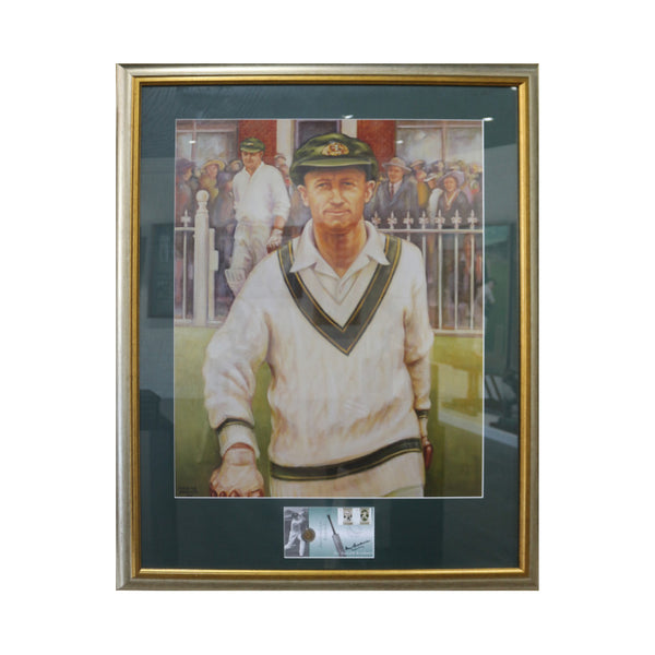 Bradman Walking onto MCG Framed