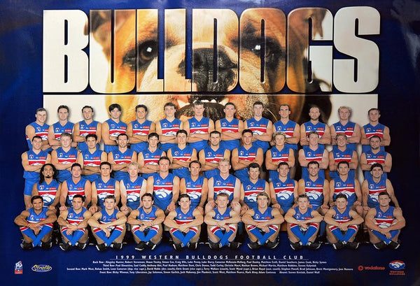 Western Bulldogs 1999 Team Poster