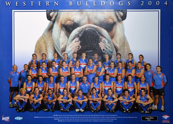 Western Bulldogs 2004 Team Poster