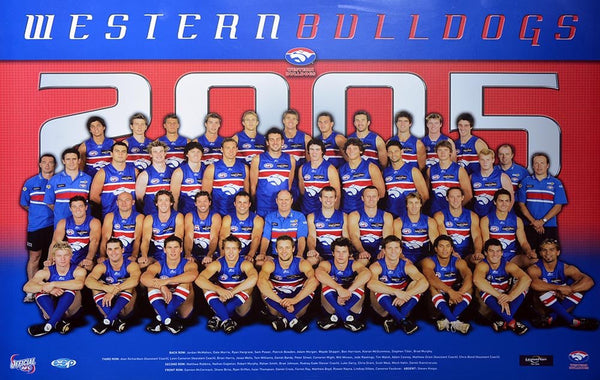 Western Bulldogs 2005 Team Poster