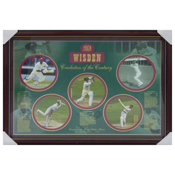 Wisden Cricketers of the Century Signed by Bradman/Sobers/Richards/Warne