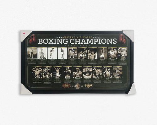 Boxing Champions of Australia 1890 - 2013 Poster Framed