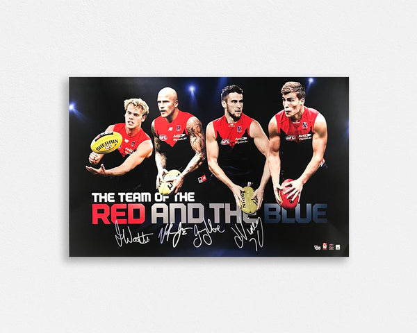 Melbourne 'Team of the red and the blue' signed poster