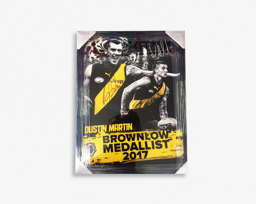 RICHMOND-Dustin Martin Brownlow Medalist 2017 Signed - FRAMED