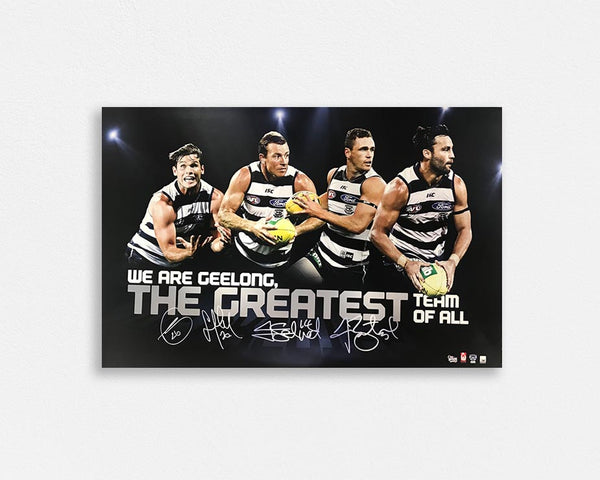Geelong 'The greatest' Signed Poster
