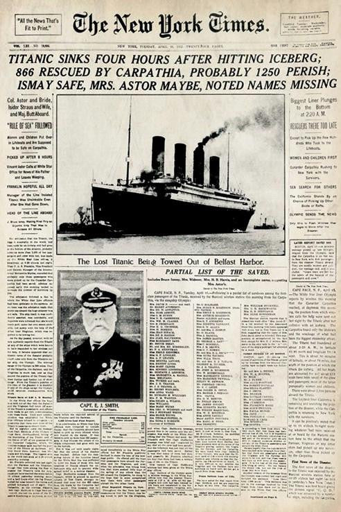 The New York Times Titanic Poster