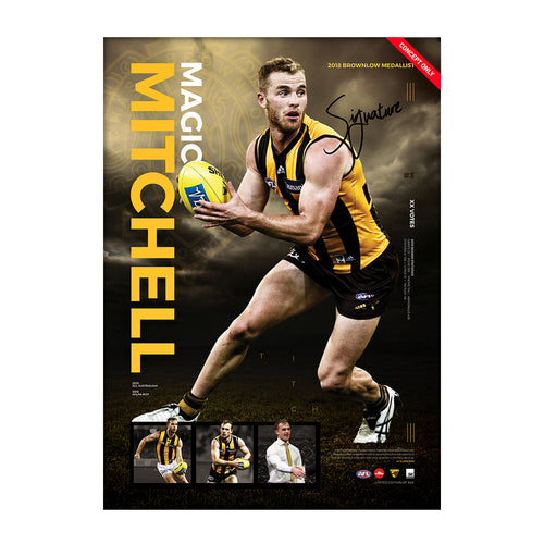 HAWTHORN-TOM MITCHELL 'BALL MAGNET' POSTER