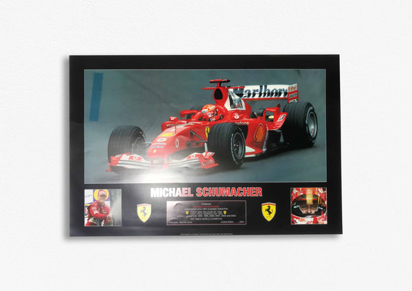Michael Schumacher Tribute Poster