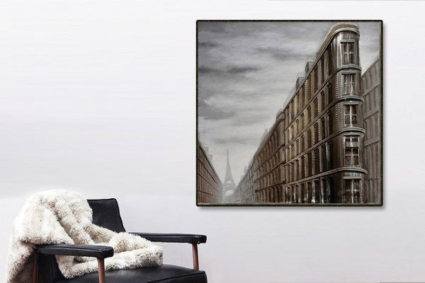 Paris Building 3D Oil Painting