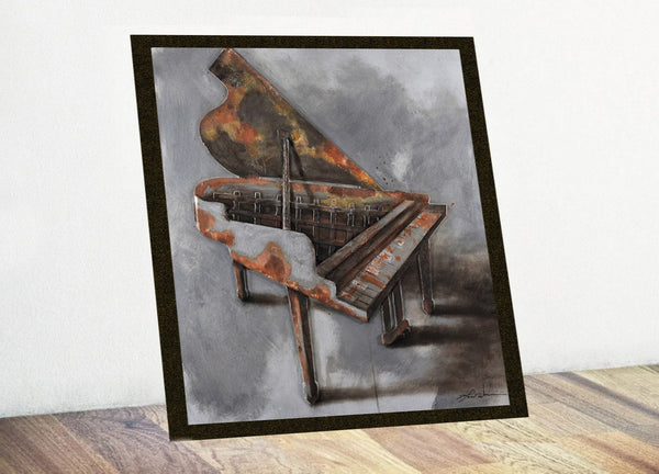 Piano 3D Oil Art