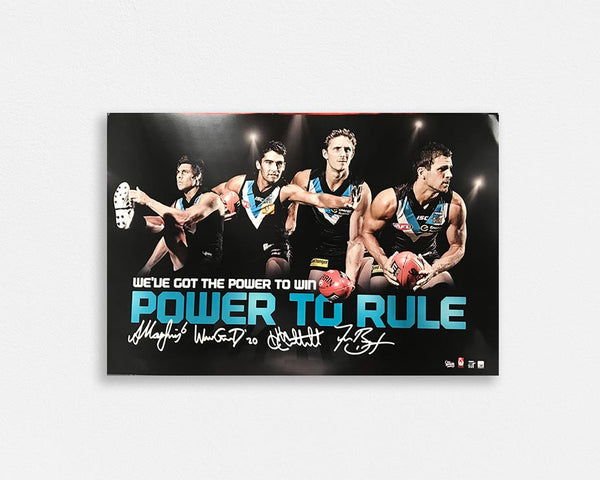 Port Adelaide 'Power to rule' Signed Poster