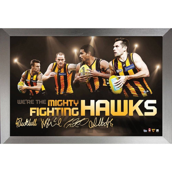 Hawthorn 4 Player Faux-Signed Collector's Frame