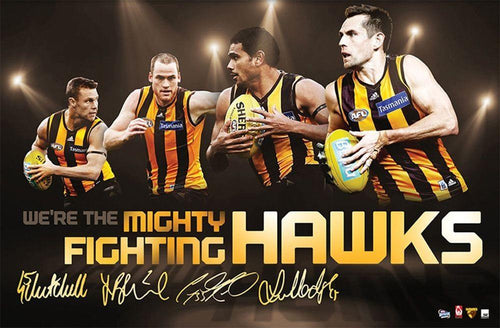 2014 Hawthorn 4 Player Sports Print