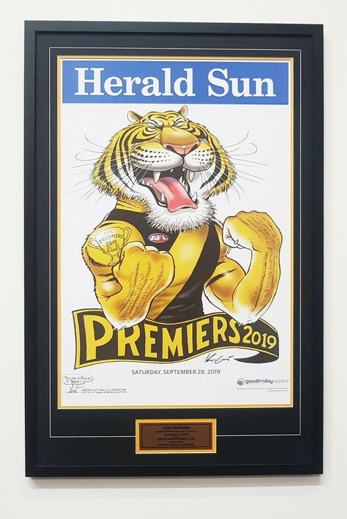 Richmond Premiers 2019 Mark Knight poster/Framed