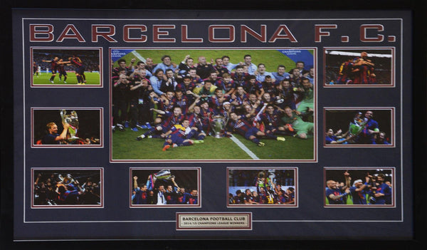 Barcelona Fc 2014/15 Champions League Winners Framed Piece