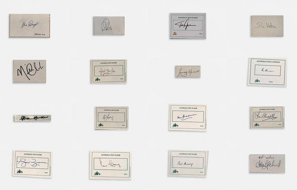 Australian Test Cricketer CAPTAINS SET cards Signed Bradman to Paine