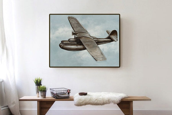 Aeroplane 3D Oil Painting