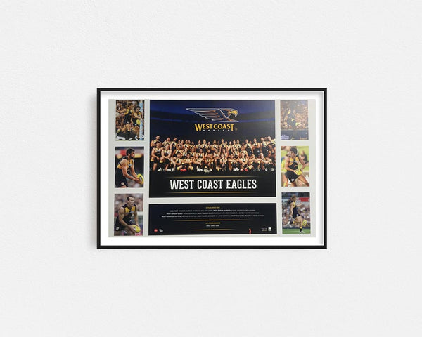 West Coast Eagles Poster Framed