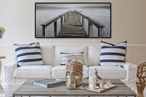 3D - Wooden Pier  Oil Painting
